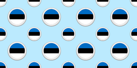 estonia round flag seamless pattern. estonian background. Vector circle icons. Geometric symbols. Texture for sports pages, competition, games. travelling, design elements. patriotic wallpaper