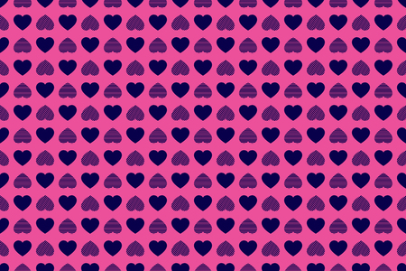 Valentines Day background. Random hearts icons vector seamless pattern. Abstract repeated texture. Red hearts symbols. Good choice for wrapping paper, prints, Valentines Day design, greeting cards