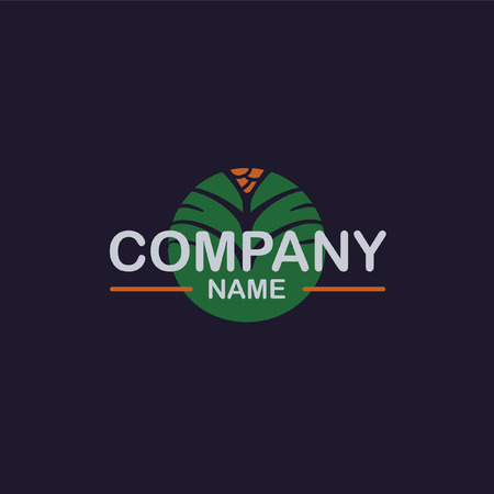 date fruit: Palm vector company logo