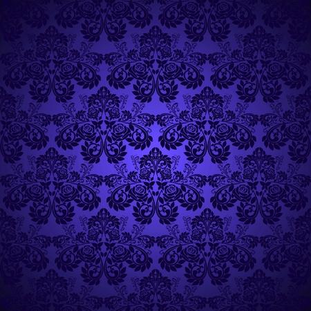 azul marino: Fondos de escritorio de color azul oscuro - patr�n con rosas