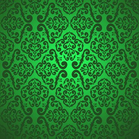 Seamless green wallpaper Vector