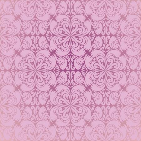 Seamless pink wallpaper Vector