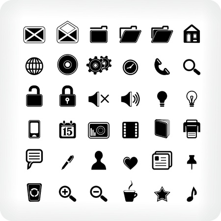 Span-new 36 Webicons Stock Vector - 13070385