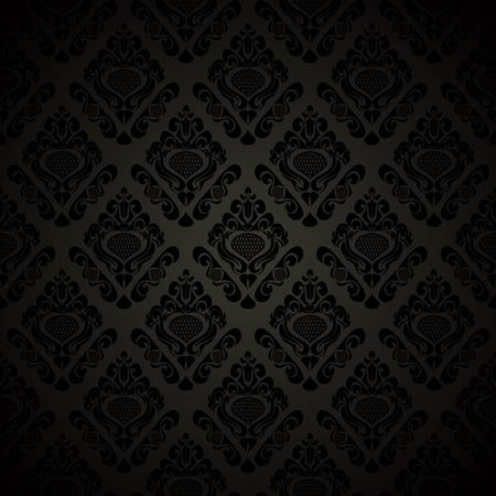 regency: Seamless black wallpaper - style retro. Vector illustration(EPS10). Illustration