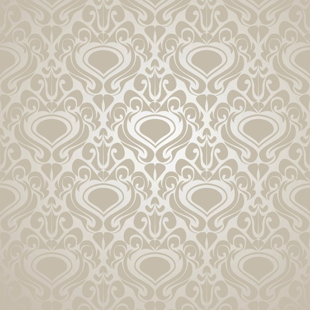 Seamless Silver wallpaper. Vector illustration(EPS10). Vector