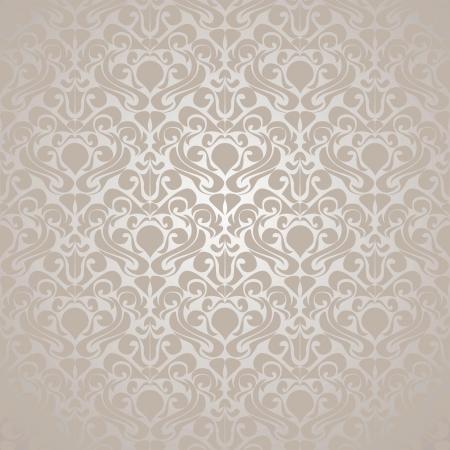 Seamless Silvery wallpaper. Vector illustration(EPS10).