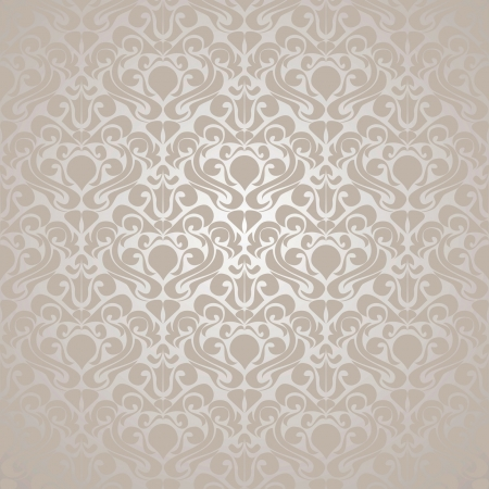 damask wallpaper: Seamless Silvery wallpaper. Vector illustration(EPS10).
