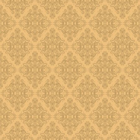 Seamless damask wallpaper Stock Vector - 13950251