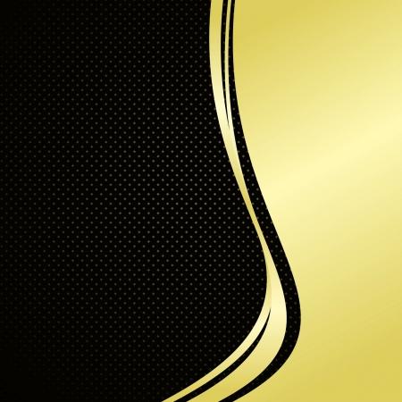 Elegant background: gold and black
