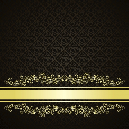 Luxury charcoal Background decorated a Vintage ornament Vector