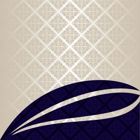 Luxury Background  silver and dark blue  EPS 10  Illustration