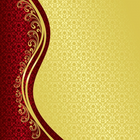 Luxury Background decorated a Vintage ornament  gold and vinous  EPS 10  Vector