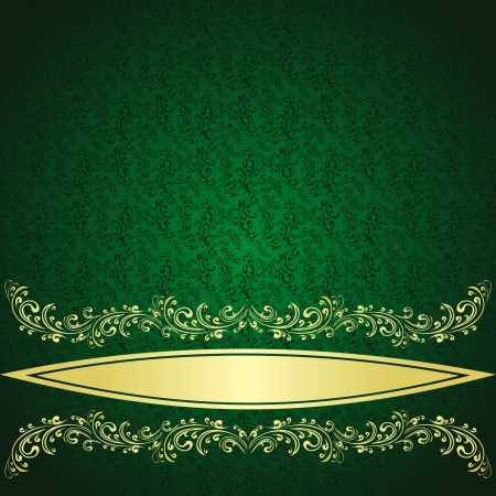 Luxury rifle-green Background decorated a Vintage ornament Stock Vector - 14491969