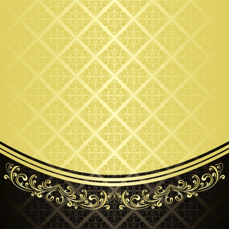 Luxury Background decorated a Vintage ornament : gold and charcoal (EPS 10) Vector