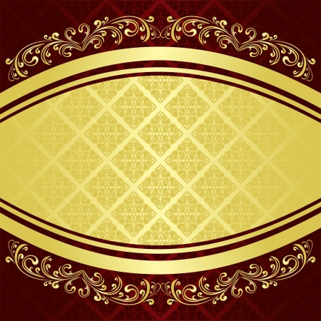 classy background: Luxury Background decorated a Vintage ornament: gold and vinous (EPS 10) Illustration