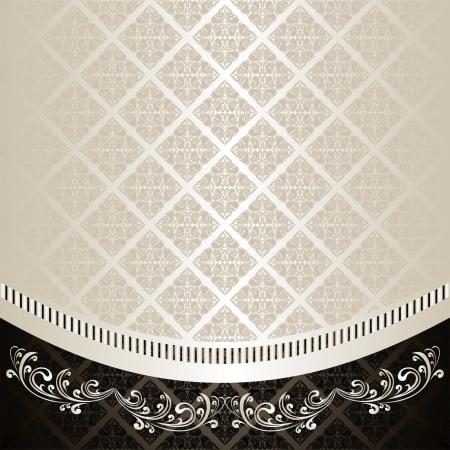 Antecedentes de lujo decorado un ornamento Vintage: plata y carbón (EPS 10) Foto de archivo - 14982015