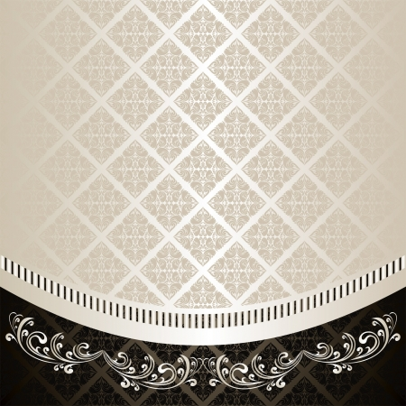 Luxury Background decorated a Vintage ornament: silver and charcoal (EPS 10) Vector