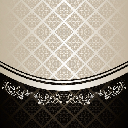 Luxury Background decorated a Vintage ornament: silver and charcoal (EPS 10)