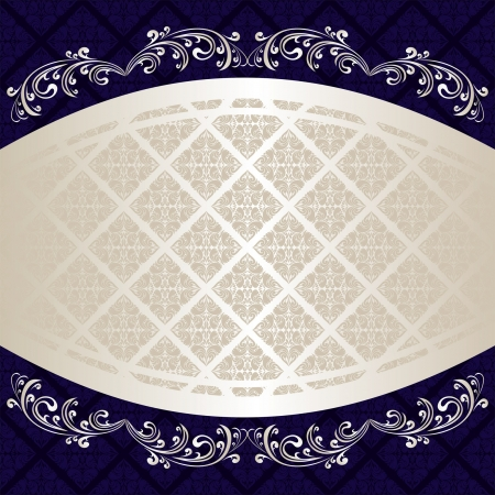 Luxury Background decorated a Vintage ornament Vector