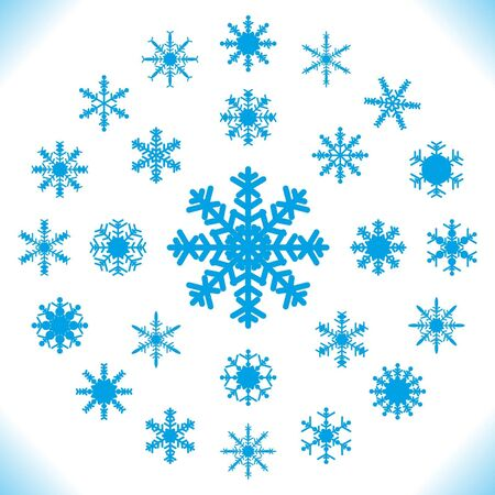 Snowflakes - set of 25 pieces Stock Vector - 15388387