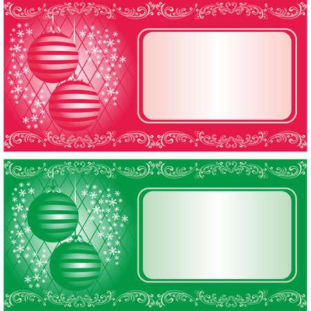 Christmas card or invitation card  Stock Vector - 15711063