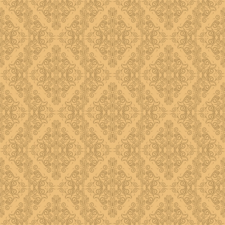 Seamless damask wallpaper Stock Vector - 15711064