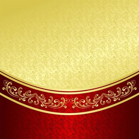 royal rich style: Luxury Background decorated a Vintage ornament  gold and vinous  Illustration