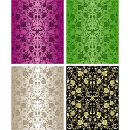 Seamless wallpapers - set of four colors  Stock Vector - 15780664
