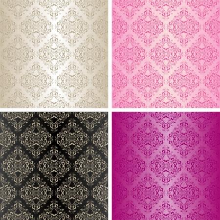 Seamless wallpapers - set of four colors Stok Fotoğraf - 15780671