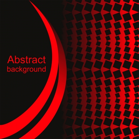 Abstract background: black and red