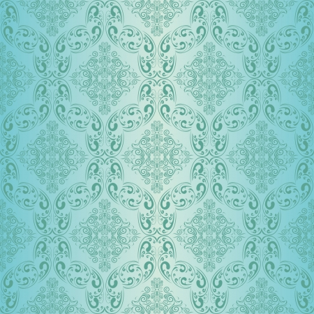 Blue seamless wallpaper Stock Vector - 15982769