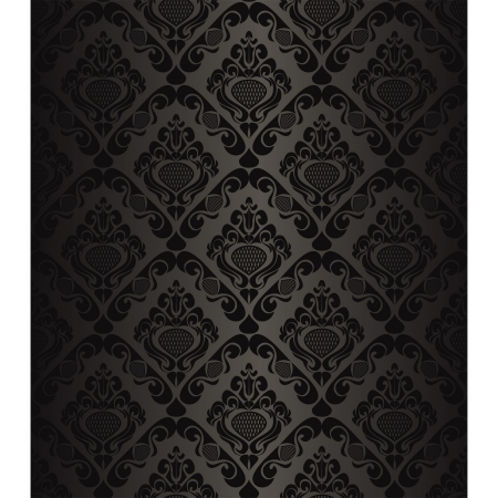 Seamless charcoal wallpaper - style retro Stock Vector - 15982762