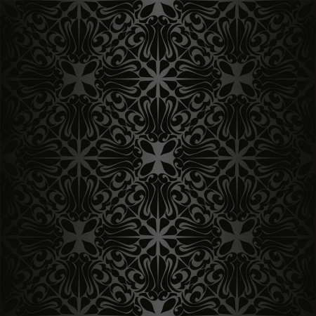 Charcoal seamless wallpaper Stock Vector - 15982760