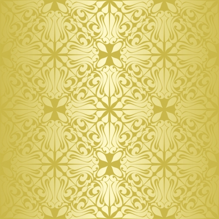 Gold seamless wallpaper  Stock Vector - 15982765