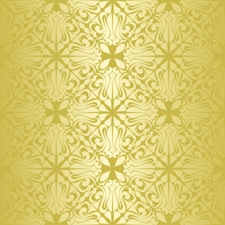 Gold seamless wallpaper Stock Vector - 15982765