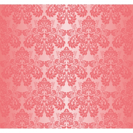 Seamless pink wallpaper - pattern with roses Vector