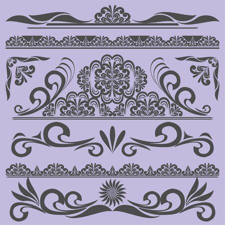 Vintage borders   design elements   Stock Vector - 16133519