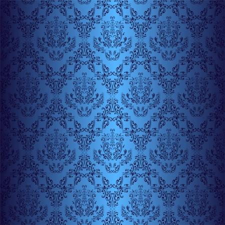 granatowy: Seamless dark blue tapety w stylu retro