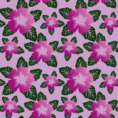 greener: Floral seamless pattern with violet flowers