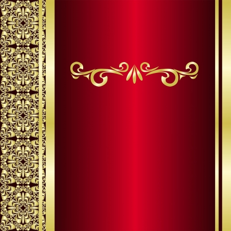 Luxury Background decorated are golden borders  Vector