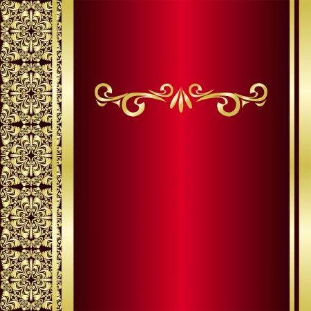 Sfondo di lusso sono decorate i bordi dorati