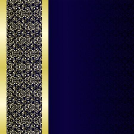 Luxury Background decorated a golden border  Illustration