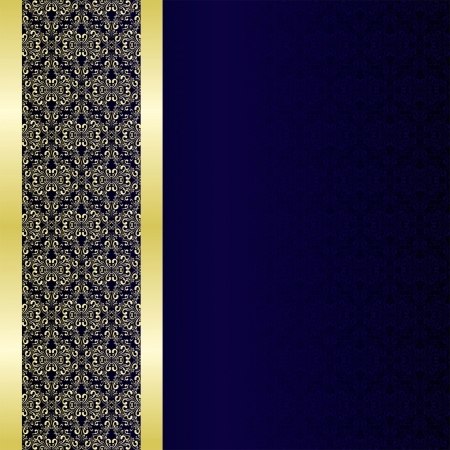 Luxury Background decorated a golden border  Иллюстрация