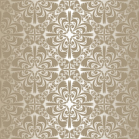Silver seamless wallpaper  Vector