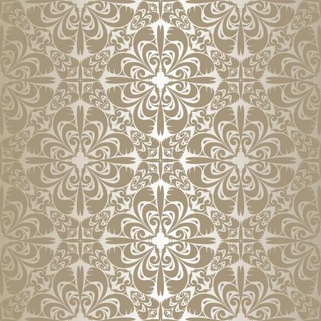 luxurious background: Silver seamless wallpaper  Illustration