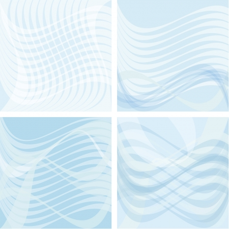 Blue backgrounds, consisting of semilucent elements.