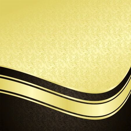 Luxury Background: gold and black.