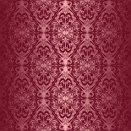 Elegant claret seamless wallpaper. Vector
