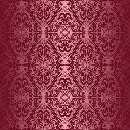 claret: Elegant claret seamless wallpaper. Illustration