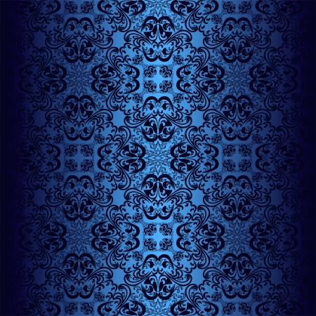 Seamless dark blue wallpaper. Vector